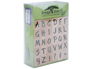 Image Tree Wood Handle Rubber Stamp Set-Susy Ratto Brush Letter Alphabet/Upper