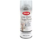 Krylon 227037 Low Odor Clear Finish Aerosol Spray-Gloss-11 Ounces