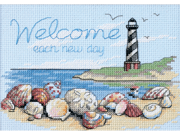 """Welcome Each New Day Mini Counted Cross Stitch Kit-7""""X5"""""""