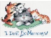 "I Don't Do Mornings Mini Counted Cross Stitch Kit-7""X5"""