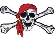 "Wrights Iron-On Appliques-Pirate Skull & Crossbones 1-3/4""X1-1/2"""
