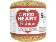 Red Heart Fashion Crochet Thread-Gold/Gold