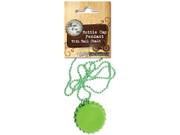Vintage Collection Standard Bottle Cap Pendant W/Ball Chain-Lime Green