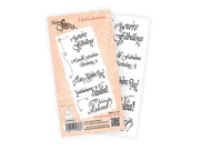 "Katy Sue Designs Fabulous Shoe Clear Stamps 4""X6"" Sheet-Fabulous Sentiments"