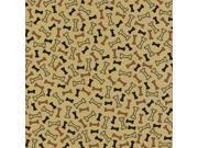 "Printed Single-Sided Cardstock 12""X12""-Kraft Dog Bones"