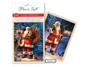 Flower Soft Card Toppers - Christmas-Forest Santa