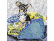 "Black Chihuahua Counted Cross Stitch Kit-9-3/4x9-3/4"" 14 Count"
