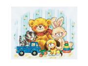 """Toys Counted Cross Stitch Kit-11-3/4""""X9-1/2"""" 14 Count"""