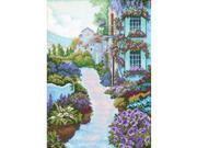 "Blooming Town Counted Cross Stitch Kit-9-3/4""X13-3/4"" 14 Count"