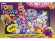 Pom Poms Assorted 300/Pkg-Pastel Colors