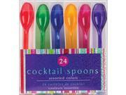 "Cocktail Spoons 4.5"" 24/Pkg-Assorted Colors"