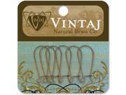 Vintaj Metal Ear Wires 6/Pkg-Arched