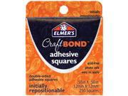 "Elmer's Adhesive Squares .50""X.50"" 250/Pkg-Initially Repositionable"