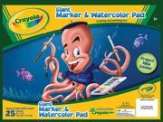 "Crayola Giant Marker & Watercolor Pad 12""X16""-25 Sheets/Pkg"