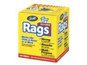KIMBERLY-CLARK PROFESSIONAL* 75260 SCOTT Rags in a Box, 10 x 12, White, 200 Rags/Box