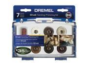 Kt Plshg/Sndg 7Pc Ez Lck Mini DREMEL Rotary Hobby Tool Accessories EZ684-01