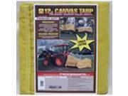 Dize CB1218D 12 ft. X 18 ft. 12 Ounce Canvas Tarp, Tan