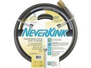 "75' Neverkink Commercial Garden Hose w/Solid Brass Fittings, 5/8"" ID Garden Hose"