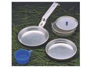 5 Piece Heavy Duty Camp Cookware Mess Kit TEXSPORT Camping Supplies 13140