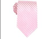 Bruno Piattelli Men's Pink Formal Stripe Silk Neck Tie
