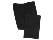 Calvin Klein Men's Solid Navy Blue Flat Front Wool Dress Pants