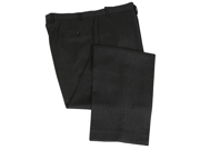 Calvin Klein Men's Solid Charcoal Gray Flat Front Wool Dress Pants