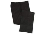 Calvin Klein Men's Flat Front Solid Black Dress Pants