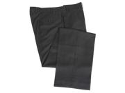 Calvin Klein Men's Flat Front Solid Charcoal Gray Dress Pants
