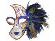 BEAUTIFUL VENETIAN MASK - Peacock Feathers - MASQUERADE