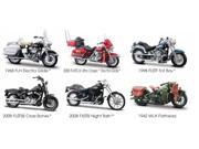Set of 6: Harley-Davidson Motorcycles Series 26 1:18 Scale