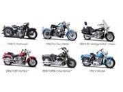 Set of 6: Harley-Davidson Motorcycles Series 27 1:18 Scale