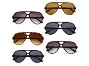 Top Classic Original Aviator Sunglasses Tear Drop Plastic Frame 6 Pack