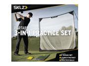 SKLZ 3 In 1 Golf Practice Set Hitting Mat, Net & Practice Balls Training Aids
