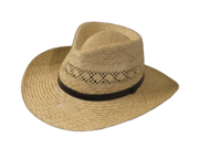 Ultrafino HAVANA FEDORA Vented Panama NATURAL Straw Hat 7 3/4
