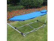 Prime Garden Foldable Travel Hammock With Portable Carry Bag Case Blue