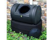 Good Ideas Inc Compost Wizard Hybrid Black Rain Barrel All-In-One
