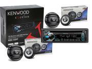 "Kenwood eXcelon KDC-X397 in Dash CD Receiver with Two Pair of Kenwood KFC1664S 6 1/2"" Speakers Package"