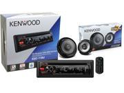 """Kenwood PKG-240 Cd receiver KDC-118U with Front USB and Auxiliary Inputs Packaged together with a pair of KFC-1665S 6.5"""" Kenwood Speakers"""