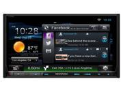 """Kenwood eXcelon Double Din Network Audio Video DNN992 6.95"""" Touchscreen Navigation Receiver with Bluetooth and HD Radio"""