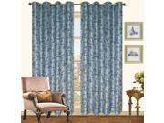 """Mona Faux Silk With Flocking Detail 84"""" Curtain Panels Two Pack Slate"""
