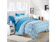 Selina Blue King 3 Piece Duvet Cover & Pillow Shams Set