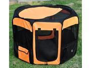 "Pawhut 36"" Deluxe Soft Sided Folding Pet Playpen / Crate - Orange / Black"