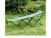 Outsunny Deluxe Folding Camping Cot w/ Carrying Bag (Green)