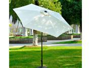 Outsunny 9' Outdoor Aluminum Patio Market Umbrella w/ Tilt - Cream