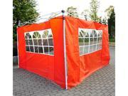 Outsunny Pop Up Tent Replacement Side / End Wall w/ Windows- 2 PACK - Rust Red