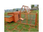 "Pawhut 87"" Deluxe Wooden Chicken Coop / Hen House w/ Backyard Run"