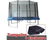 10x7 Ft. Trampoline Combo Trampoline with Safety Enclosure Net