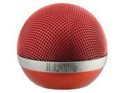 IHOME IDM8RC PORTABLE RECHARGEABLE BLUETOOTH(R) SPEAKER (RED)