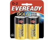 Eveready D Cell Alkaline Battery Retail Pack - 2-Pack