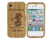 Natural Wood Wooden Title Game Design Hard Case Cover for Apple iPhone 4 4S
